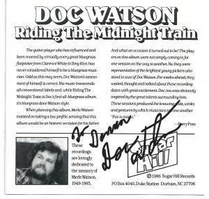 Doc Watson's autograph