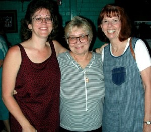 Donna, Mem Semmes and Harriett Meyer at Apalachicola Doin' Time Celebration in 2000