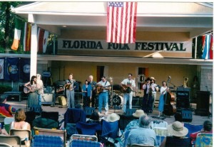 Musicians performing a finale during the Florida Folk Festival