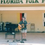 Rod MacDonald performing at the Florida Folk Festival in 2001
