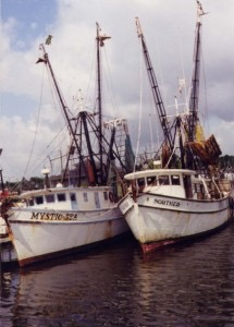 Fishing boats in the Apalachicola River, 1999