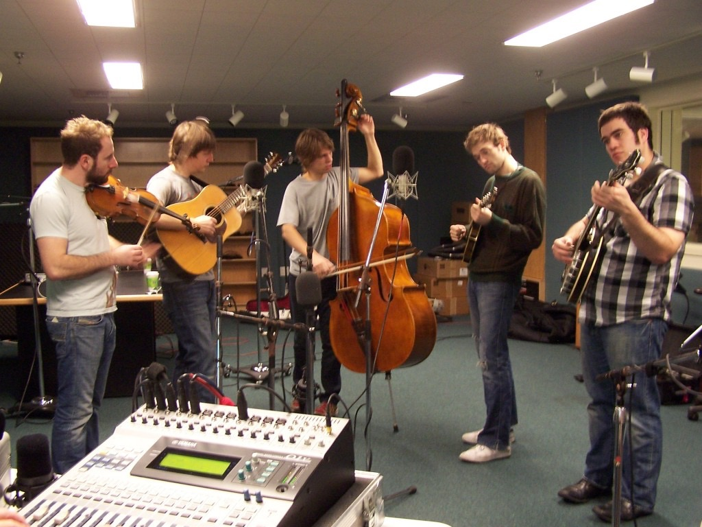 Chris Thile and the Punch Brothers in the WUFT Studios