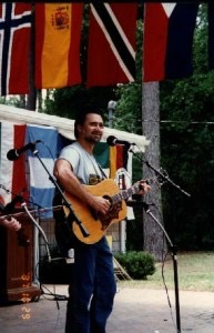 Mike Jurgensen performing at the Florida Folk Festival.