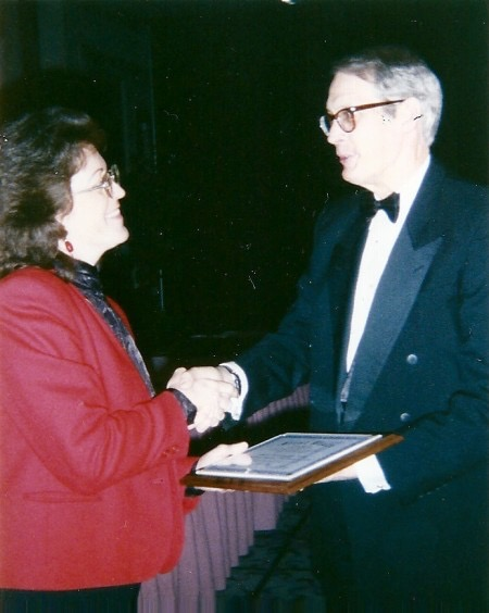 SPJ Green Eyeshade Awards in Atlanta when Donna won 1st Place for Sports Reporting 1998