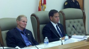 Senators Bill Nelson and Marco Rubio at Senate Field Hearing on Tuesday