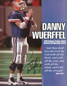 Danny Wuerffel signed poster