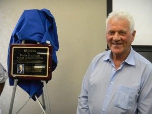 Frank Stronach by plaque