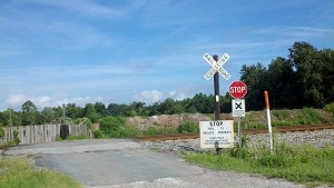 Site of FedEx and CSX train crash