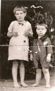 Lottie and Will McLean as children from Chipley, Florida