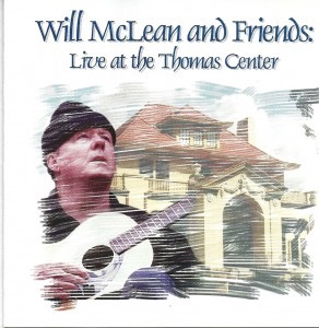 CD cover for a live recording by WUFT of Florida's Black Hat Troubadour, Will McLean, just 5 years before his death in 1990.