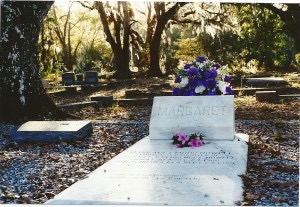 Margaret Howell's grave in Magnolia Cemetery in Apalachicola