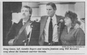 Doug Gauss Gamble Rogers and Sanda Jemison 1 24 1990