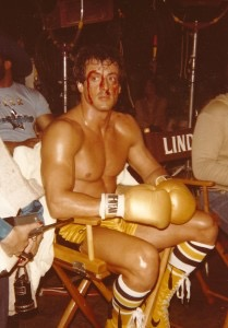 Sylvester Stallone at filming of Rocky III in 1981