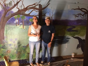 Artist Gayle Prevatt and Naturalist Jim Stephens